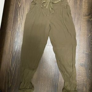 Wilfred army green jumpsuit pants